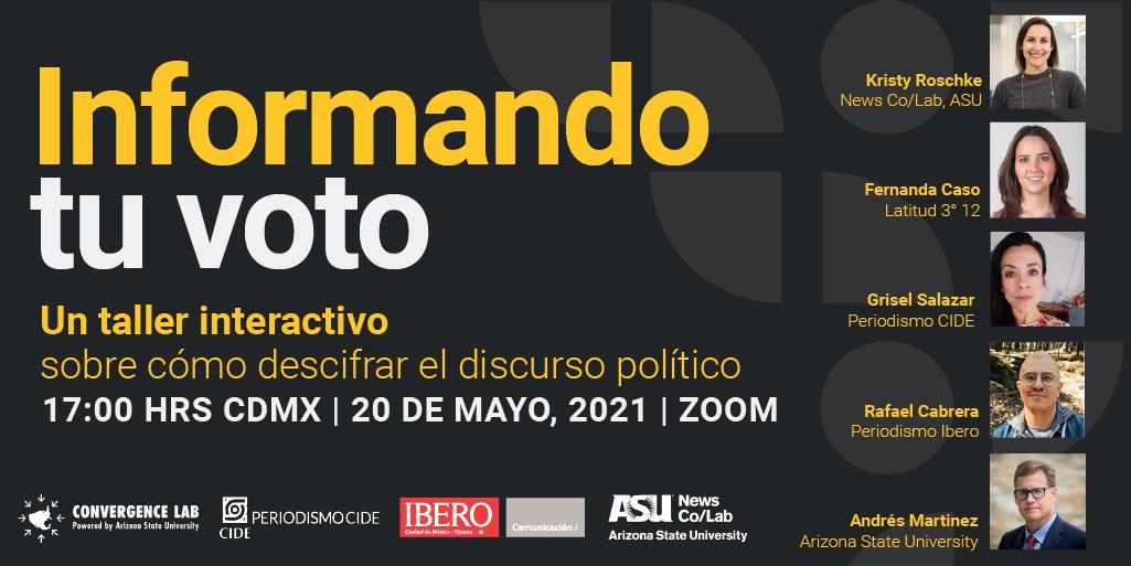 "Invitation to event ""Informando tu voto"""